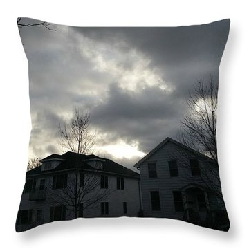 Ominous Clouds Throw Pillow by Diamante Lavendar