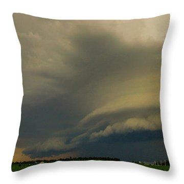Ominous Nebraska Outflow 007 Throw Pillow