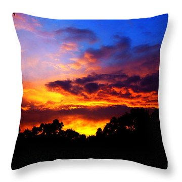 Ominous Sunset Throw Pillow by Clayton Bruster