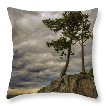 Ominous Weather Throw Pillow
