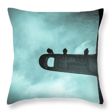 Ominously Seatlle  Throw Pillow