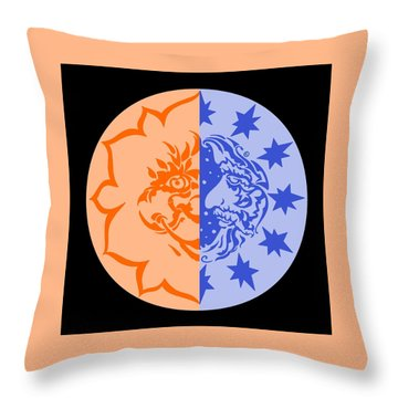 Omniscire Eclipse Logo Throw Pillow by Dawn Sperry