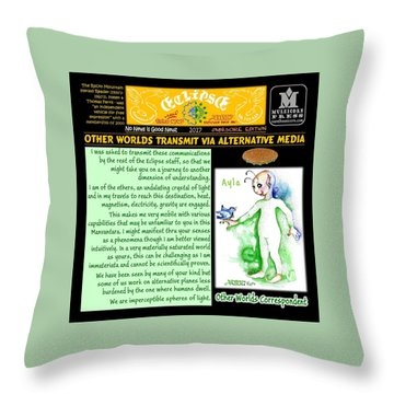 Omniscire Other Worlds Correspondent Throw Pillow by Dawn Sperry