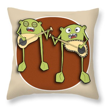 Omti And Itmo Throw Pillow