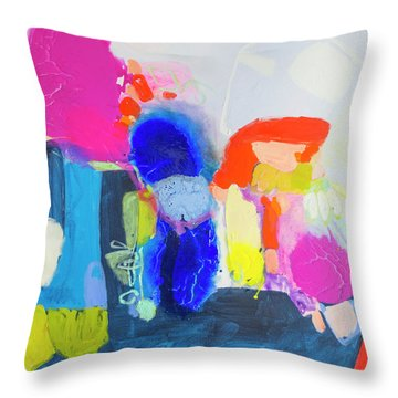 On A Boat Throw Pillow