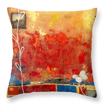 On A Clear Day Throw Pillow by Ruth Palmer