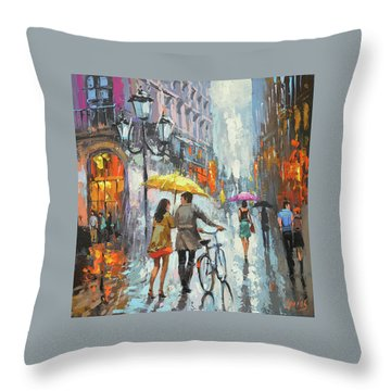 On A Cloudy Day  Throw Pillow