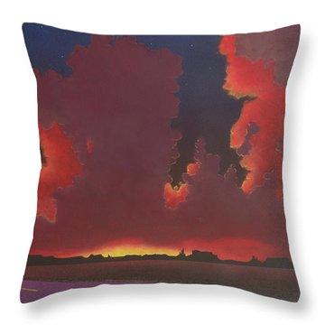 On A Dark Desert Highway Throw Pillow by Jack Malloch