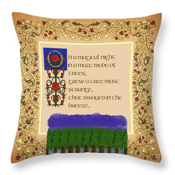 Throw Pillow featuring the digital art On A Magical Night Square  by Donna Huntriss