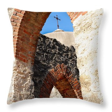 Throw Pillow featuring the photograph On A Mission by Debbie Karnes