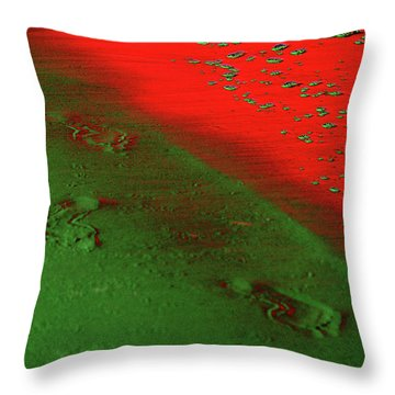 On A New Planet Throw Pillow by Susanne Van Hulst