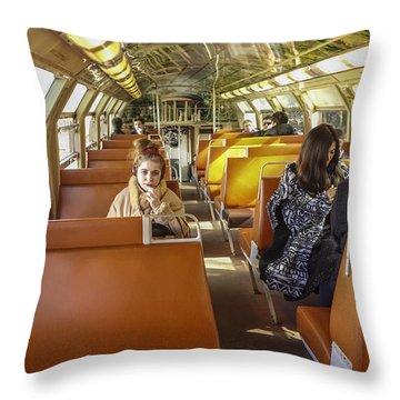 On A Train Throw Pillow