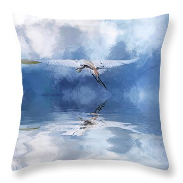 On A Wing And A Prayer Throw Pillow by Cyndy Doty