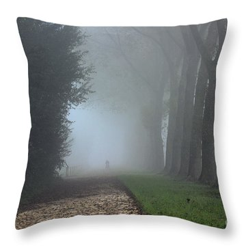 On An Autumn Day In The Mist Throw Pillow
