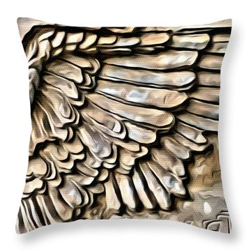 On Angels Wings Throw Pillow