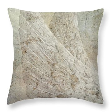 On Angels Wings 2 Throw Pillow