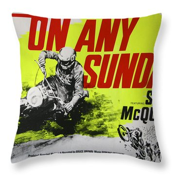 On Any Sunday - Steve Mcqueen  Throw Pillow