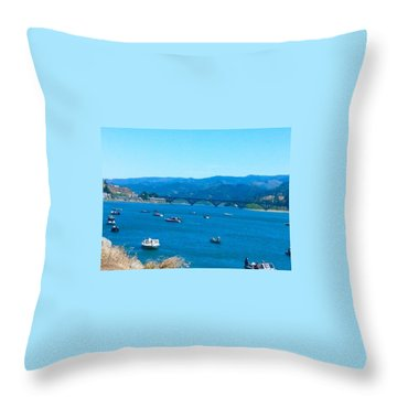 On Board For Fun  Throw Pillow
