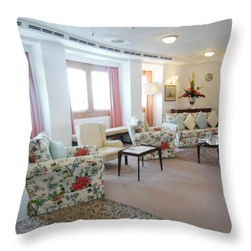 On Board The Royal Yacht Britannia  Throw Pillow