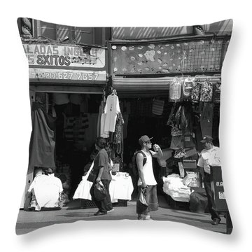 Throw Pillow featuring the photograph On Broadway Los Angeles Style by Lorraine Devon Wilke