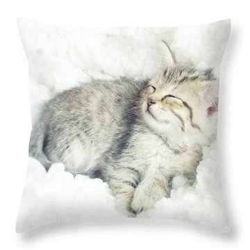 On Cloud Nine Throw Pillow by Amy Tyler
