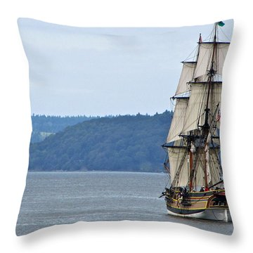 Throw Pillow featuring the photograph On Commencement Bay by Sean Griffin