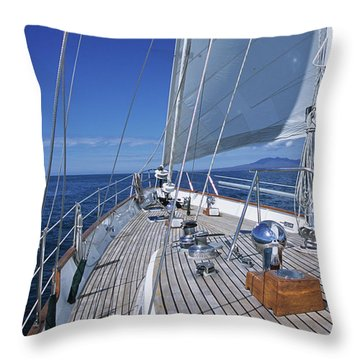 On Deck Off Mexico Throw Pillow