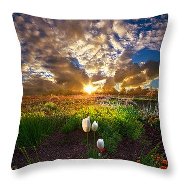 On Earth As It Is In Heaven Throw Pillow by Phil Koch
