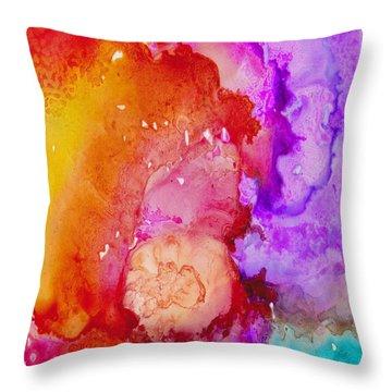 On Fire Throw Pillow