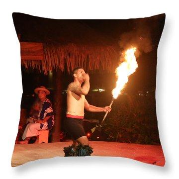 On Fire In Tahiti Throw Pillow