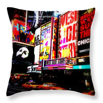 On Funky Broadway  Throw Pillow