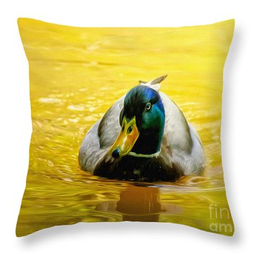 On Golden Pond Throw Pillow by Lois Bryan