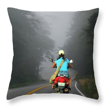 Throw Pillow featuring the photograph On Her Terms by Laura Ragland