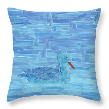 On His Way IIi Throw Pillow