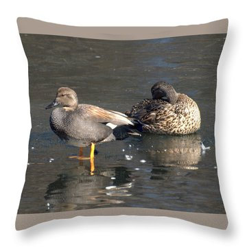 On Ice Throw Pillow