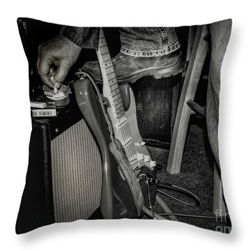 Throw Pillow featuring the photograph On In Two Minutes by Robert Frederick
