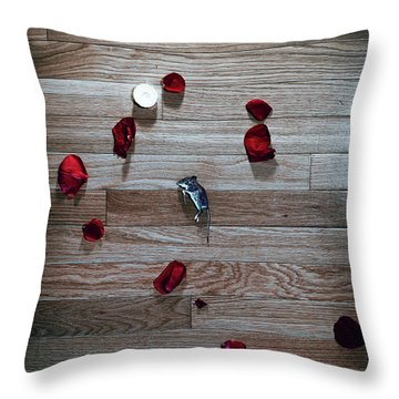Throw Pillow featuring the photograph On Nature, Tragedy, And Beauty I by Break The Silhouette