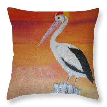 Throw Pillow featuring the painting On Patrol by Lyn Olsen