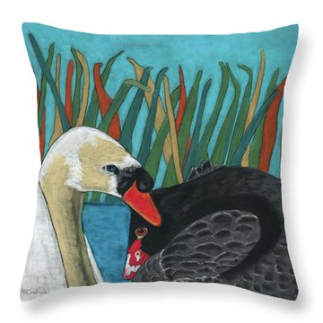 On Peaceful Pond Throw Pillow