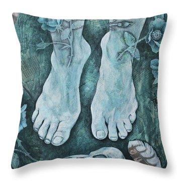 On Sacred Ground Throw Pillow