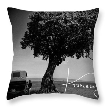 Throw Pillow featuring the photograph On Safari by Karen Lewis