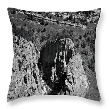 On Sandia Mountain Throw Pillow