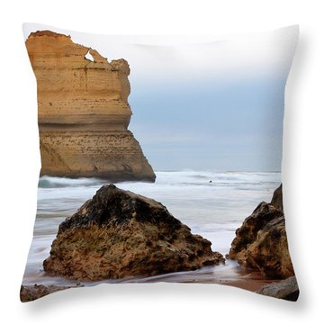 On Southern Shores Throw Pillow