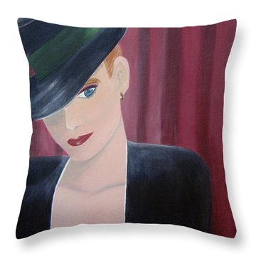 On Stage Throw Pillow by Donna Blackhall