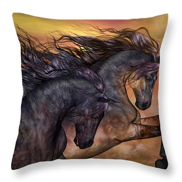 On Sugar Mountain Throw Pillow