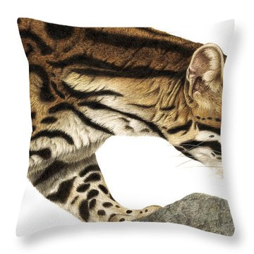 On Target Ocelot Throw Pillow