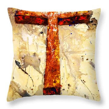 On That Old Rugged Cross Throw Pillow