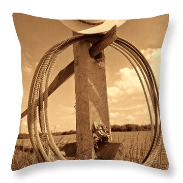 On The American Ranch Throw Pillow