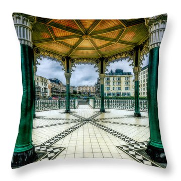 Throw Pillow featuring the photograph On The Bandstand by Chris Lord