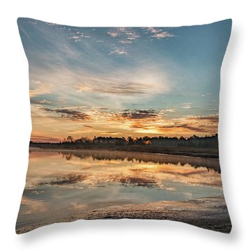 On The Banks Of The Nacote Throw Pillow